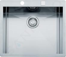 Franke Planar - Lavello in acciaio inox PPX 210/610-58 TL, 580x512 mm + sifone 127.0203.469