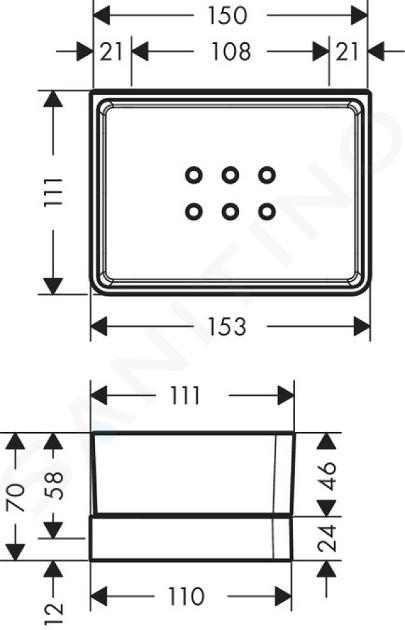 Axor Universal - Étagère pour serviette, chrome 42802000