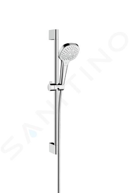 Hansgrohe Croma Select E - Multi glijstangset EcoSmart 9l/min 0,65 m, wit/chroom 26581400