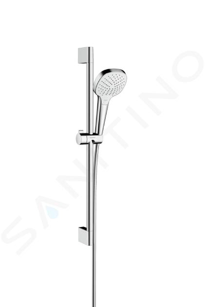 Hansgrohe Croma Select E - Set de douche Vario, 0,65m, blanc/chrome 26582400