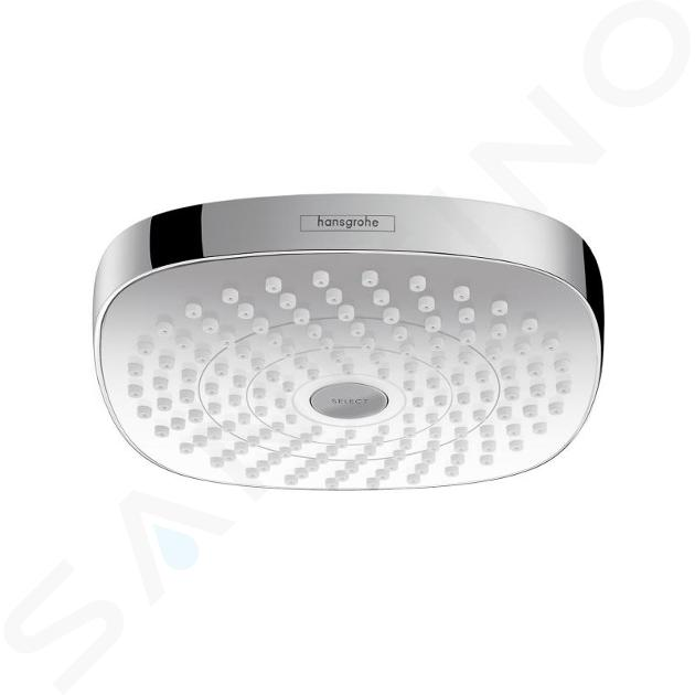 Hansgrohe Croma Select E - Hoofddouche 180, 2jet, EcoSmart 9 l/min, wit/chroom 26528400