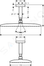 Hansgrohe Raindance New - Kopfbrause E 360 Air 1jet, Deckenauslass 100 mm, EcoSmart, verchromt 26604000