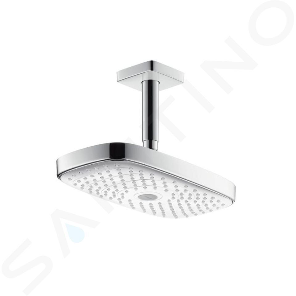 Hansgrohe Raindance Select E - Hoofddouche 300 mm 2jet plafondbevestiging 100 mm, EcoSmart, wit/chroom 26608400