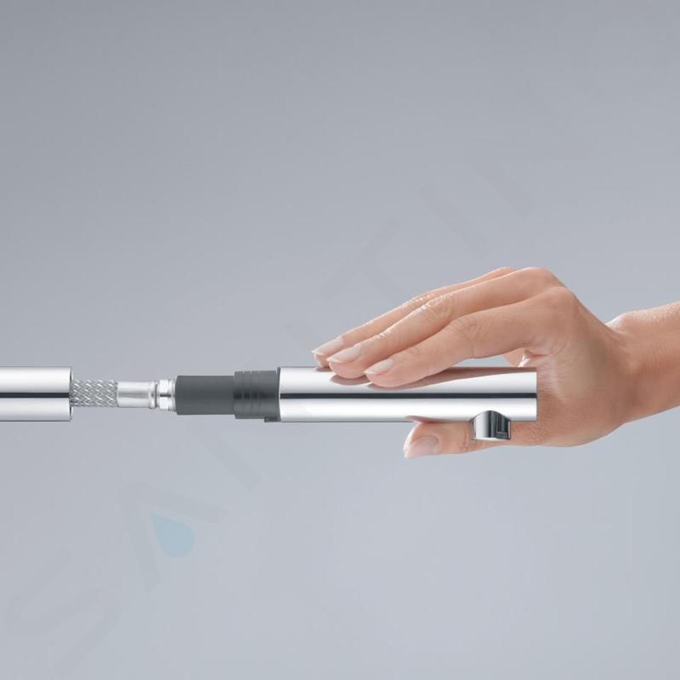 Kludi L-ine S - Spültisch Einhebelmischer mit ausziehbarem Auslauf, chrom 408510575