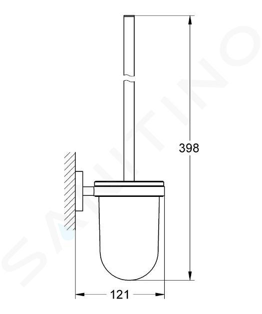 Grohe Essentials - Toilettenbürstengarnitur, verchromt 40374001