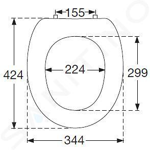 Villeroy & Boch Amadea - WC bril, wit 881061R1
