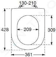 Villeroy & Boch Hommage - Abattant de WC avec couvercle, avec Ceramicplus, blanc - abattant, charnières en acier allié 8809S1R1