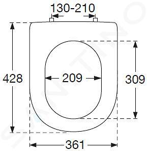 Villeroy & Boch Hommage - WC-zitting met deksel, met Ceramicplus, deksel - wit, rvs scharnieren 8809S1R1