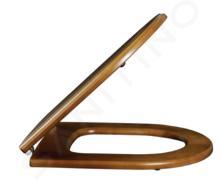 Villeroy & Boch Hommage - WC-zitting met deksel, houten deksel, scharnieren van edel messing 9926K600
