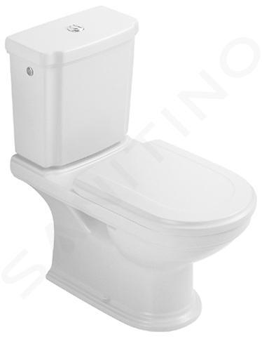 Villeroy & Boch Hommage - réservoir de chasse d'eau, avec CeramicPlus, blanc - réservoir, chromé 772111R1