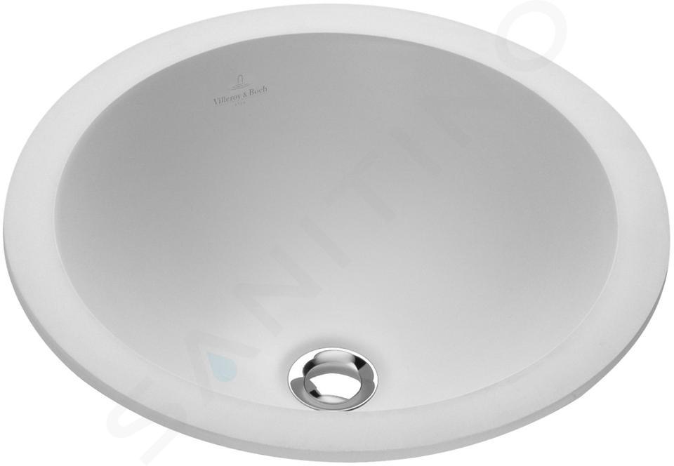Villeroy & Boch Loop&Friends - Vasque sans trou, diamètre 340 mm, blanc - vasque, avec trop-plein, avec CeramicPlus 614034R1