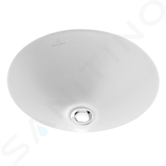 Villeroy & Boch Loop&Friends - Inbouw wastafel zonder kraangat, diameter 280 mm, met Ceramicplus 61802801