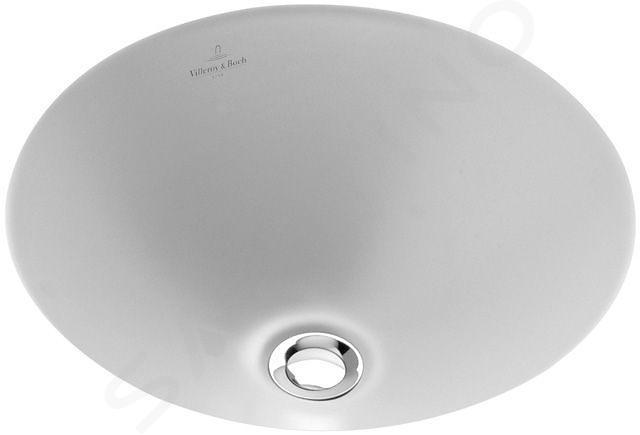Villeroy & Boch Loop&Friends - Unterbauwaschtish, ohne Hahnloch, Durchschnitt 280 mm, Weiß, ohne Überlauf, mit Ceramicplus 618128R1