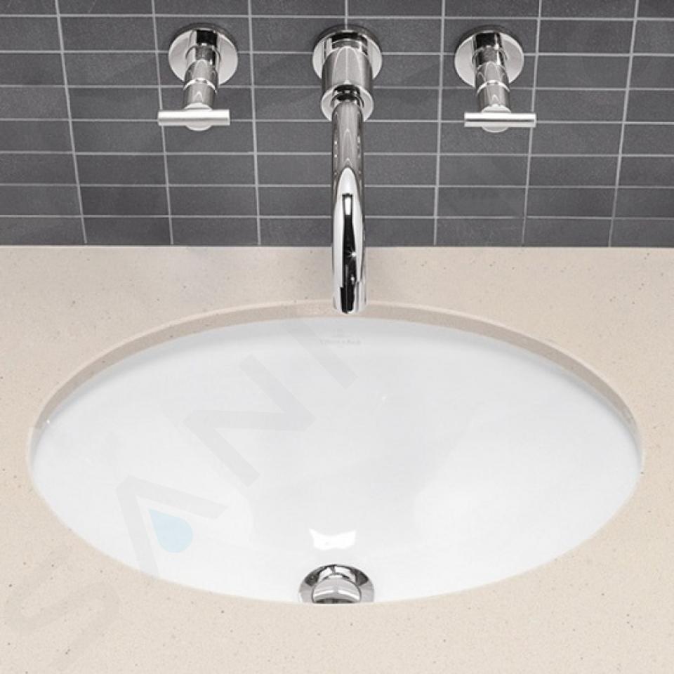 Villeroy & Boch Loop&Friends - Unterbauwaschtisch 385x255 mm, ohne Überlauf, ohne Hahnloch, CeramicPlus, Alpinweiß 616101R1