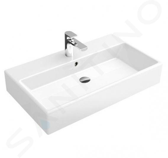 Villeroy & Boch Memento - Lavabo 800x470 mm, avec trop-plein, trou pour robinetterie, CeramicPlus, blanc alpin 513385R1