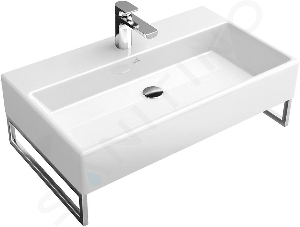 Villeroy & Boch Memento - Lavabo 800x470 mm, sans trop-plein, trou pour robinetterie, CeramicPlus, blanc alpin 513381R1