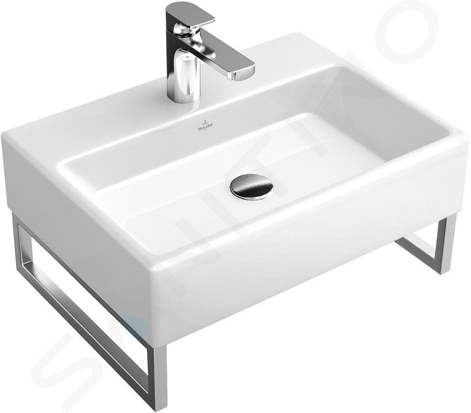 Villeroy & Boch Memento - Wastafel 500x420 mm, zonder overloop, met kraangat, CeramicPlus, alpine wit 513351R1