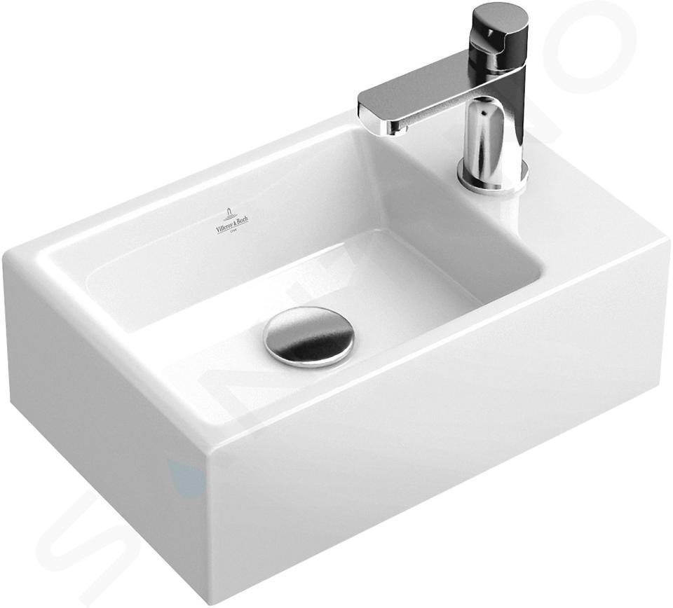Villeroy & Boch Memento - Fontein 400x260 mm, zonder overloop, 1 met kraangat, CeramicPlus, alpine wit 53334GR1