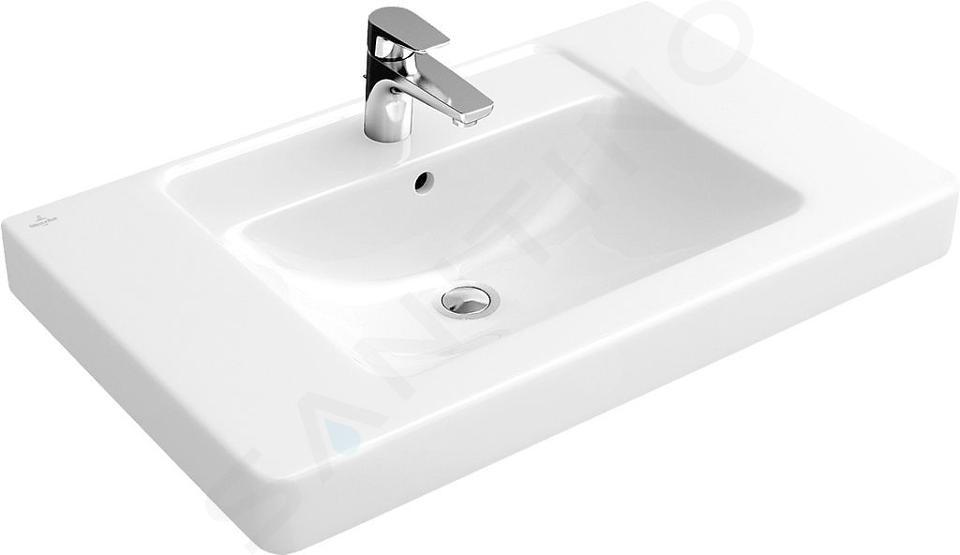 Villeroy & Boch Omnia Architectura - Möbelwaschtisch, mit Überlauf, 800 mm x 485 mm, Weiß, mit CeramicPlus 611680R1