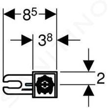 Geberit Duofix - Kit pour montage en applique 111.815.00.1