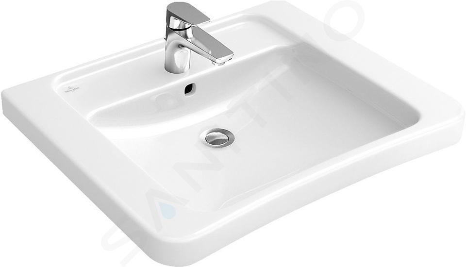 Villeroy & Boch ViCare - Waschbeckken Vita, 650 mm x 550 mm, Weiß - Waschbecken, ohne Überlauf, mit CeramicPlus 517865R1