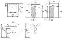 Villeroy & Boch ViCare - Vita wastafel, 650x550 mm, zonder overloop, met kraangat, Ceramicplus, wit 517866R1