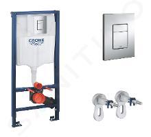 Grohe Rapid SL - Set d'installation en applique pour WC suspendu, hauteur 1,13 m, plaque de déclenchement Skate Cosmopolitan, chrome 38772001