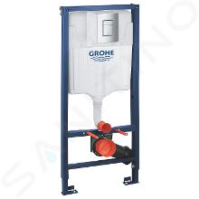 Grohe Rapid SL - Predstenová inštalačná súprava na závesné WC, výška 1,13 m, ovládacie tlačidlo Skate Cosmopolitan, chróm 38772001