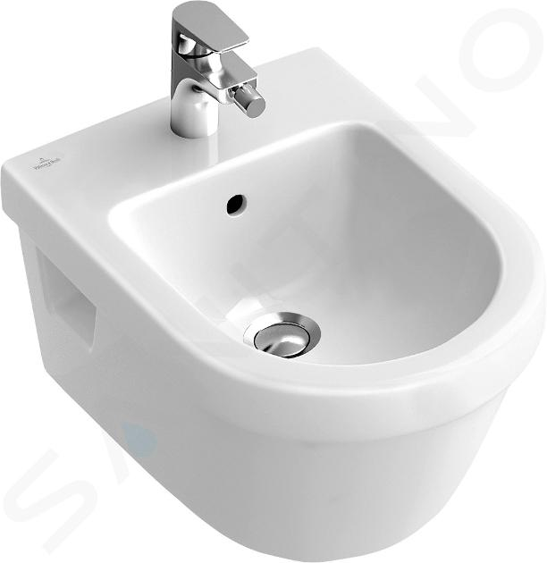 Villeroy & Boch Architectura - Wandbidet met overloop, met Ceramicplus, alpine wit 548400R1