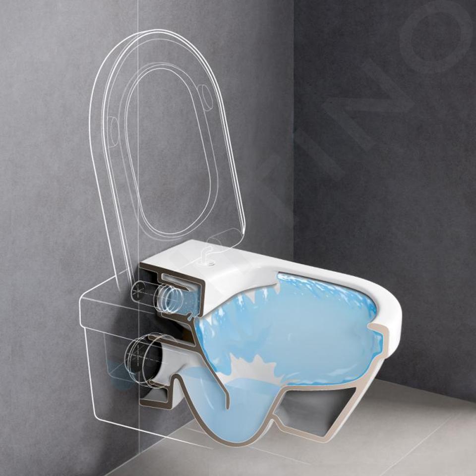 Villeroy & Boch Architectura - Wandcloset, afvoer horizontaal, DirectFlush, CeramicPlus, alpine wit 5684R0R1