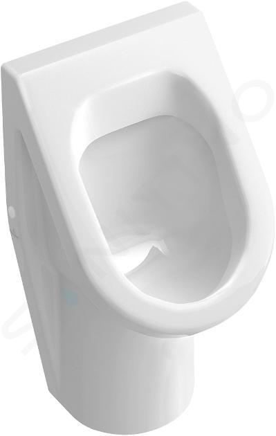 Villeroy & Boch Architectura - Absaug-Urinal, 355 mm x 620 mm x 385  mm, mit Zielobjekt, mit Keramiksieb 55742501