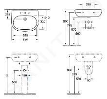 Villeroy & Boch O.novo - Wastafel 650x510 mm, zonder overloop, met kraangat, CeramicPlus, alpine wit 516066R1