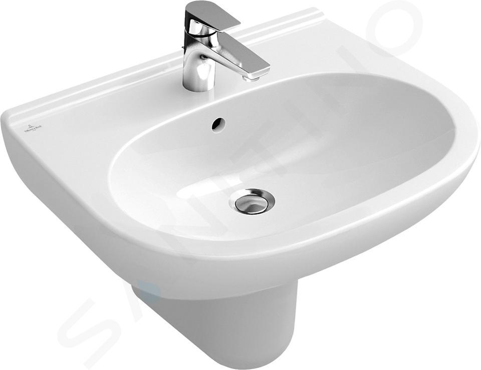 Villeroy & Boch O.novo - Wastafel 600x490 mm, met overloop, met kraangat, CeramicPlus, alpine wit 516060R1