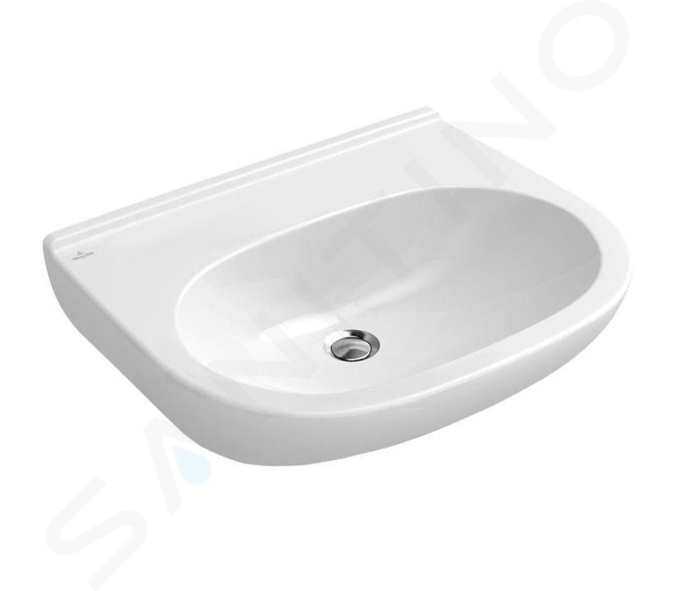 Villeroy & Boch O.novo - Wastafel 550x450 mm, zonder overloop, zonder kraangat, CeramicPlus, alpine wit 516058R1