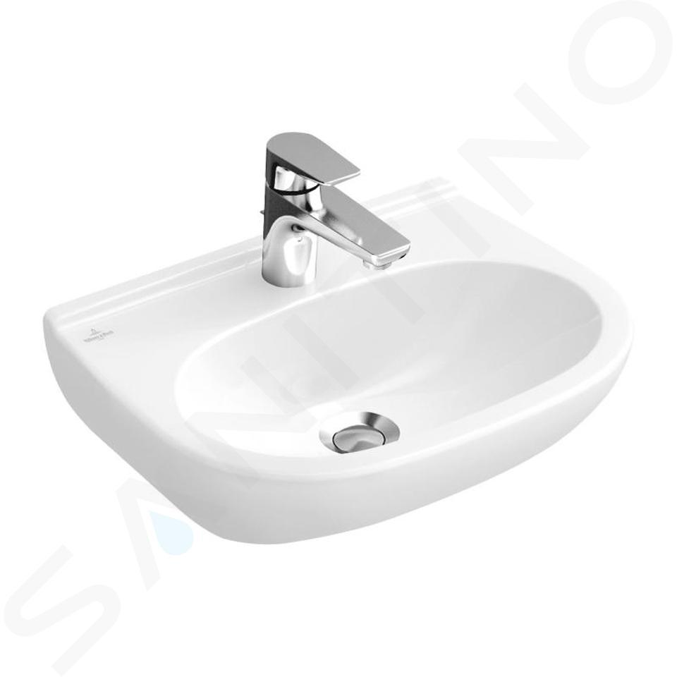 Villeroy & Boch O.novo - Wastafel Compact, 550x370 mm, zonder overloop, met kraangat, alpine wit 51665601
