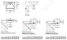 Villeroy & Boch O.novo - Vita wastafel, 600x490 mm, met overloop, zonder kraangat, Ceramicplus, wit 711964R1