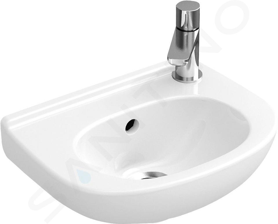 Villeroy & Boch O.novo - Compact fontein, 360x275 mm, met overloop, zonder kraangat, alpine wit 53603601