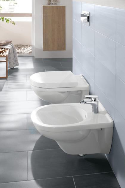 Villeroy & Boch O.novo - Wandbidet 360x560 mm, 1 met kraangat, CeramicPlus, alpine wit 546000R1