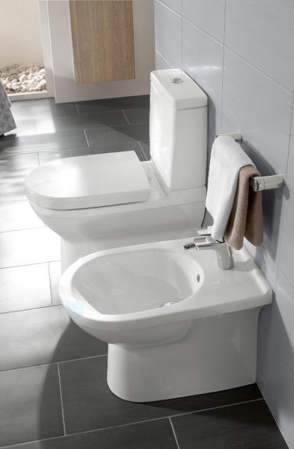 Villeroy & Boch O.novo - Staand bidet 360x560x400 mm, 1 met kraangat, CeramicPlus, alpine wit 546100R1