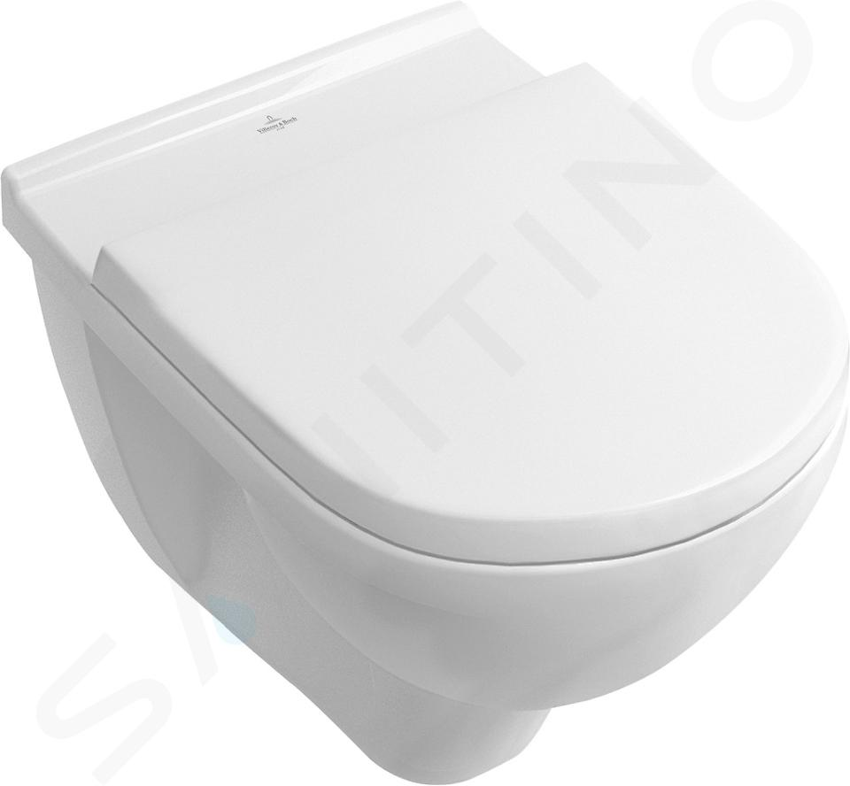 Villeroy & Boch O.novo - Wand-WC Set mit Sitz, 360x560 mm, Combi-Pack, CeramicPlus 5660H1R1