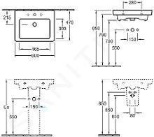 Villeroy & Boch Subway 2.0 - Waschbecken mit Überlauf, 600x470 mm, CeramicPlus, Pergament 711360R3