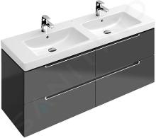 Villeroy & Boch Subway 2.0 - Mobile da lavabo, 1287x520x449 mm, Glossy Grey A69900FP