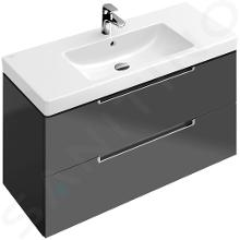 Villeroy & Boch Subway 2.0 - Mobile da lavabo, 987x520x449 mm, Glossy Grey A69700FP