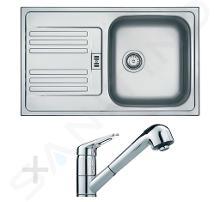 Franke Set - Set per cucina N12, lavello in acciaio inox EFN 614-78 + miscelatore FC 9547.031, cromo 101.0200.194