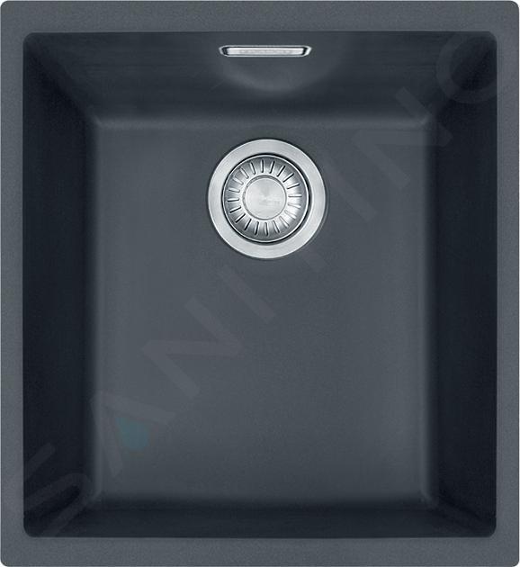Franke Sirius - SID 110-34 tectonite spoelbak, onder keukenblad, 380x450 mm, zwart 125.0363.785