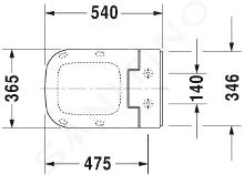 Duravit SensoWash Slim - Elektronické bidetové sedátko SensoWash Slim se skrytým připojením, bílá 611300002004300