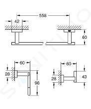 Grohe Essentials Cube - Sada doplňků, chrom 40777001
