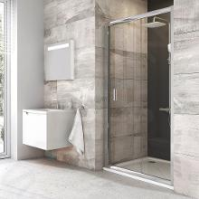 Ravak Blix - Sprchové dvere posuvné dvojdielne BLDP2, 970mm – 1010 mm – farba lesklý hliník, sklo transparent 0PVA0C00Z1