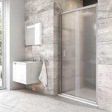 Ravak Blix - Sprchové dvere posuvné dvojdielne BLDP2, 970mm – 1010 mm – farba satin, sklo grape 0PVA0U00ZG