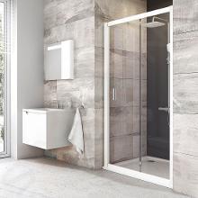 Ravak Blix - Sprchové dvere posuvné dvojdielne BLDP2, 1070mm – 1110 mm – farba biela, sklo transparent 0PVD0100Z1